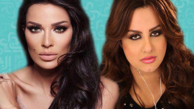 النجمتان اللبنانيتان باسكال مشعلاني ونادين نسيب نجيم