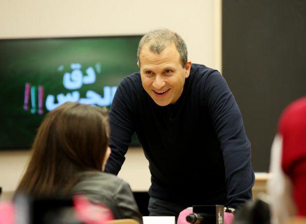 جبران باسيل: جبران باسيل كان متجاوباً مع التلاميذ