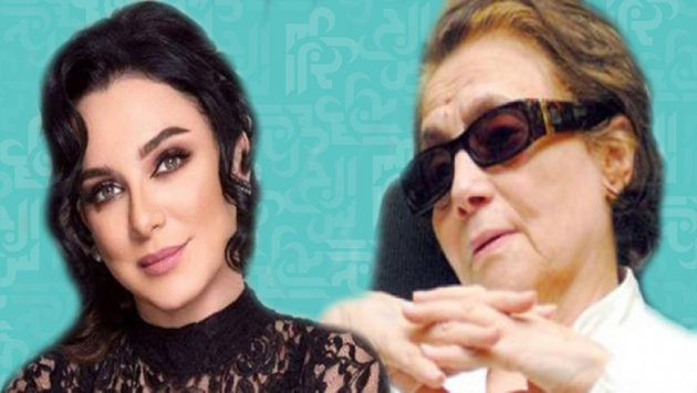 المناضلة الجزائرية جميلة بوحيرد والفنانة السورية سلاف فواخرجي