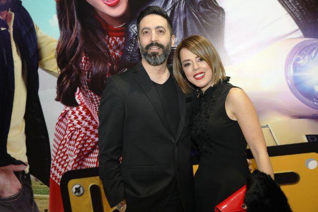 المخرج نبيل لبس وزوجته