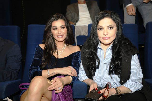 الزميلة رئيسة التحرير نضال الأحمدية والنجمة اللبنانية نادين الراسي
