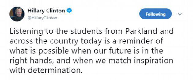 التعليق الذي كتبته هيلاري كلينتون