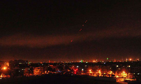 الصواريخ تتوجه إلى الماكن الهامة في سوريا