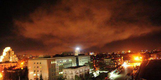 لحظة استهداف الطائرات لأماكن متفرقة في سوريا