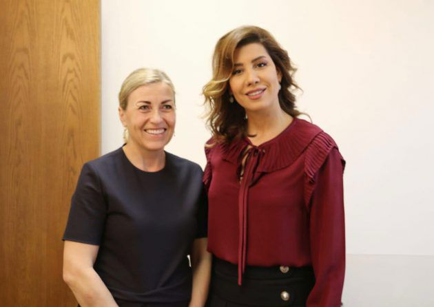 النائب بولا يعقوبيان مع سفيرة سفيرة النرويج في لبنان ليندا لين