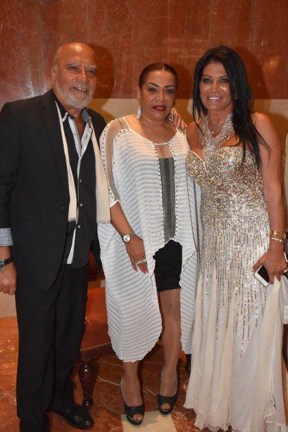 الممثل اللبناني خالد السيد وزوجته
