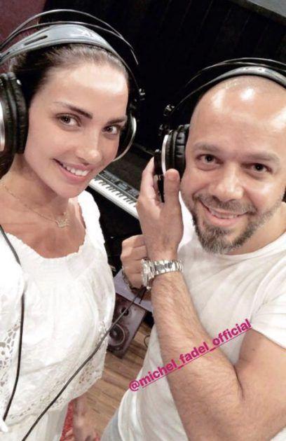 النجمة اللبنانية داليدا خليل والموسيقي ميشال فاضل