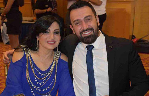 الإعلامي اللبناني طارق سويد ووالدته