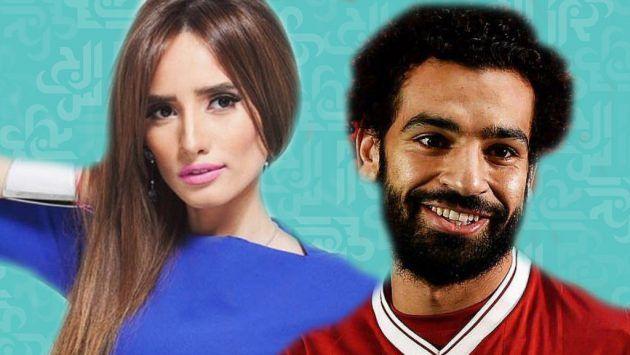 اللاعب المصري محمد صلاح والفنانة المصرية زينة