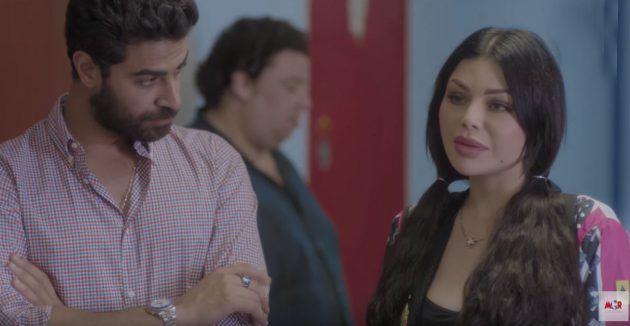 محمد وزيري في أحد مشاهد مسلسل لعنة كارما