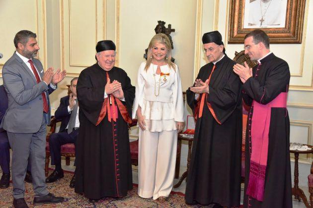 منح قداسة البابا فرنسيس مي شدياق ميدالية القديس غريغوار الكبير