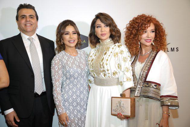 الإعلامية رابعة الزيات مع ماغي بو غصن وجمال سنان