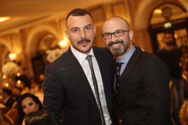 النجم السوري باسل خياط والمنتج المصري محمد مشيش
