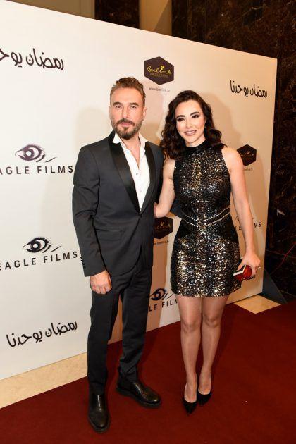 النجم اللبناني باسم مغنية وزوجته شيرين
