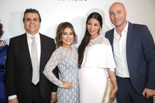 جمال سنان ماغي بو غصن مع الإعلامي رودولف هلال وزوجته