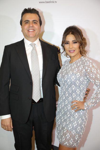 المنتج اللبناني الهم جمال سنان والنجمة اللبنانية ماغي بو غصن
