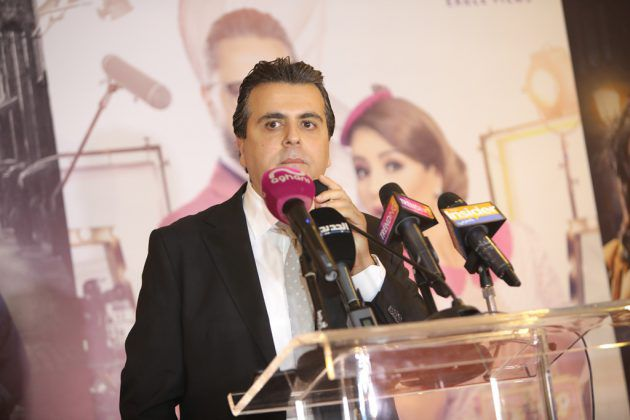 المنتج اللبناني جمال سنان يلقي كلمته