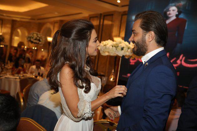 النجمة اللبنانية جيسي عبدو والممثل جيسكار أبي نادر