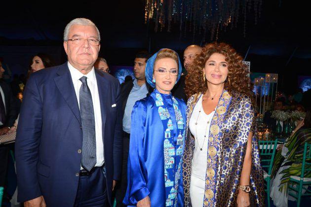 رندة بري مع وزير الداخلية نهاد المشنوق وزوجته
