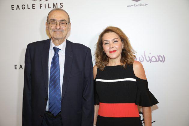 الكاتب اللبناني شكري أنيس فاخوري وزوجته