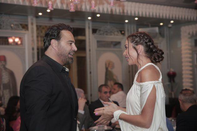 النجم اللبناني عاصي الحلاني والممثلة اللبنانية داليدا خليل