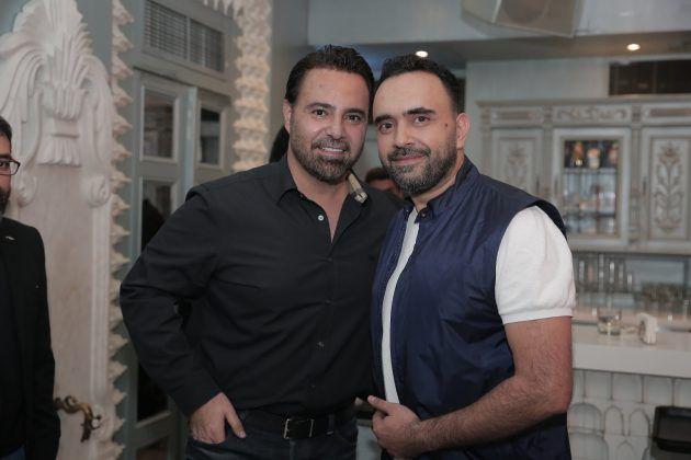 فارس الغناء العربي عاصي الحلاني ورجل الأعمال اللبناني علي الأتات