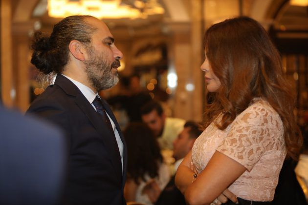 النجمة اللبنانية كارمن لبس والمخرج السوري رامي حنا