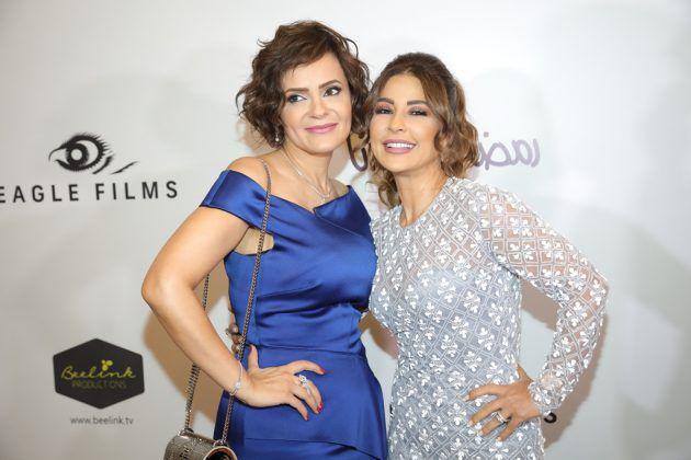 النجمة اللبنانية ماغي بو غصن والمنتجة صفاء أبو رزق