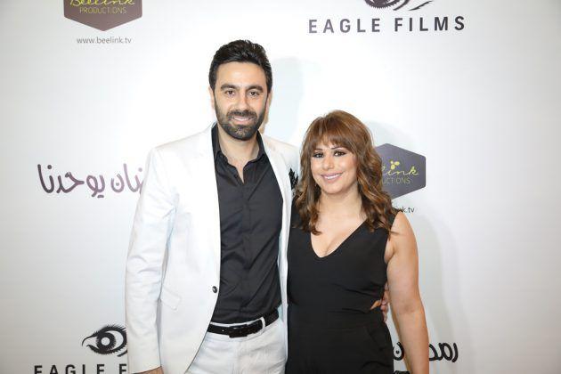 الممثل اللبناني ميشال حوراني وزوجته