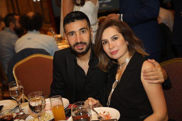الممثل اللبناني وسام صباغ وعقيلته