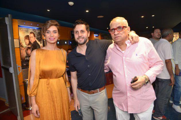 هشام ماجد يتوسط أحمد السبكي ونور قدري