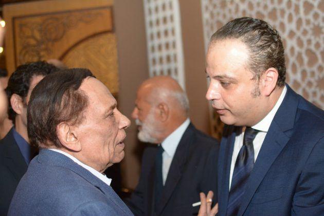عادل إمام يقدم التعازي لتامر عبد المنعم