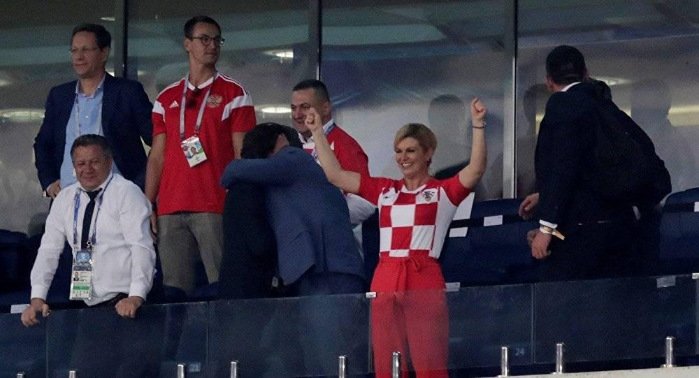 رئيسة كرواتيا،كوليندا كيتاروفيتش تهلّل فرحاً