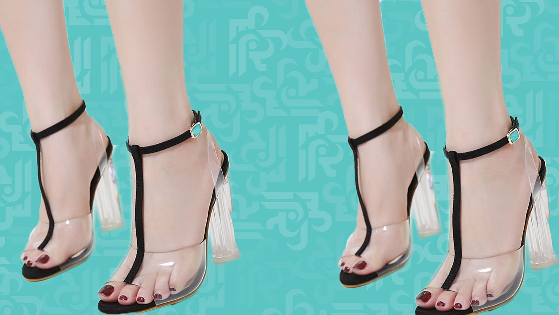 صيحات الموضة مع الأحذية الشفافة