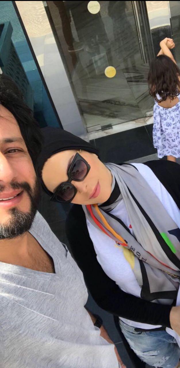 امل حجازي وزوجها محمد البسام