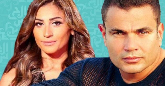 عمرو دياب يقبل دينا الشربيني على المسرح ويعترف: بحبك موت