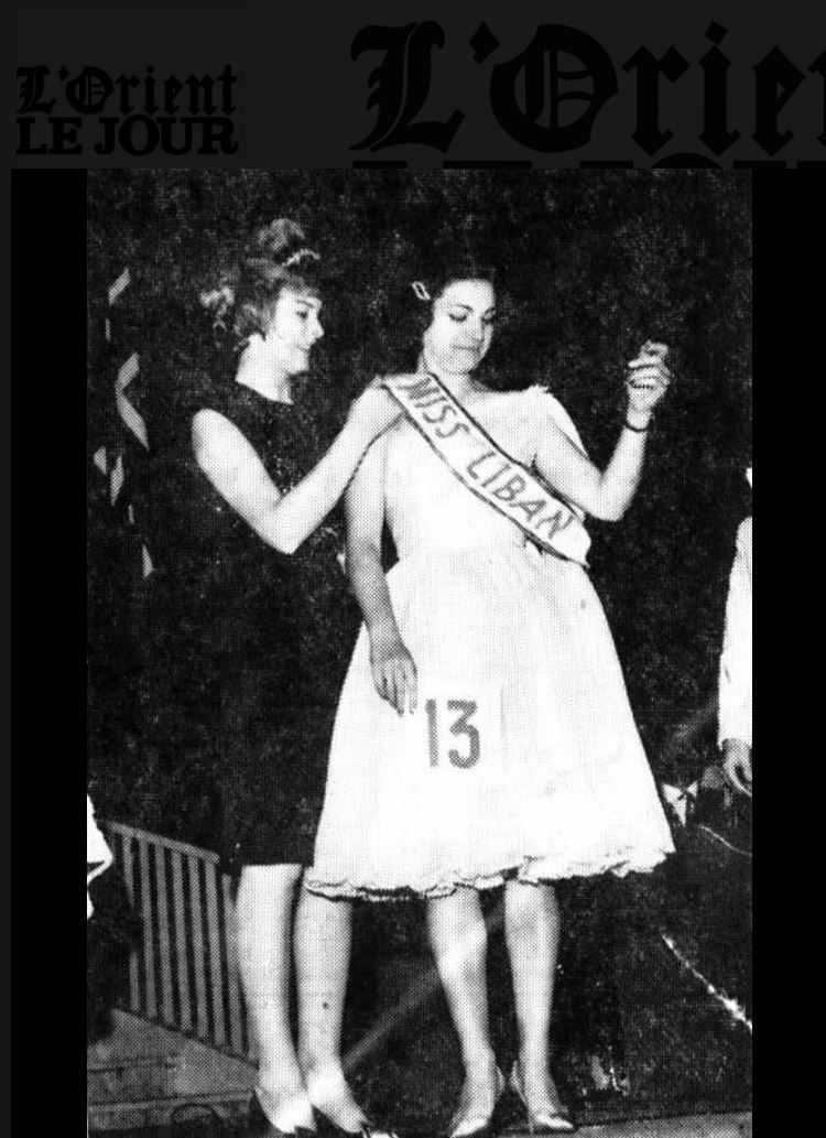 ليلى انتاكي ملكة جمال لبنان 1961 الصورة من الاوريون لوجور