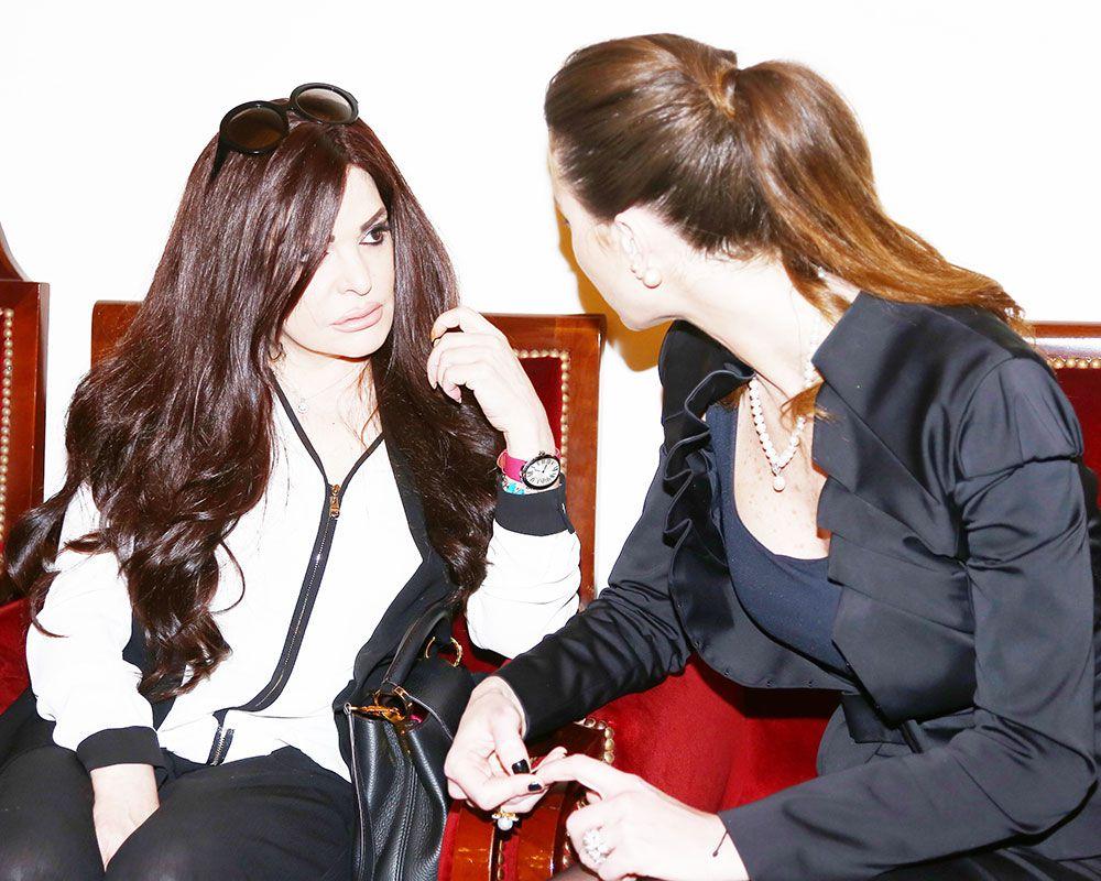 نضال الأحمدية تعزي أنابيلا هلال بأم الدكتور نادر صعب