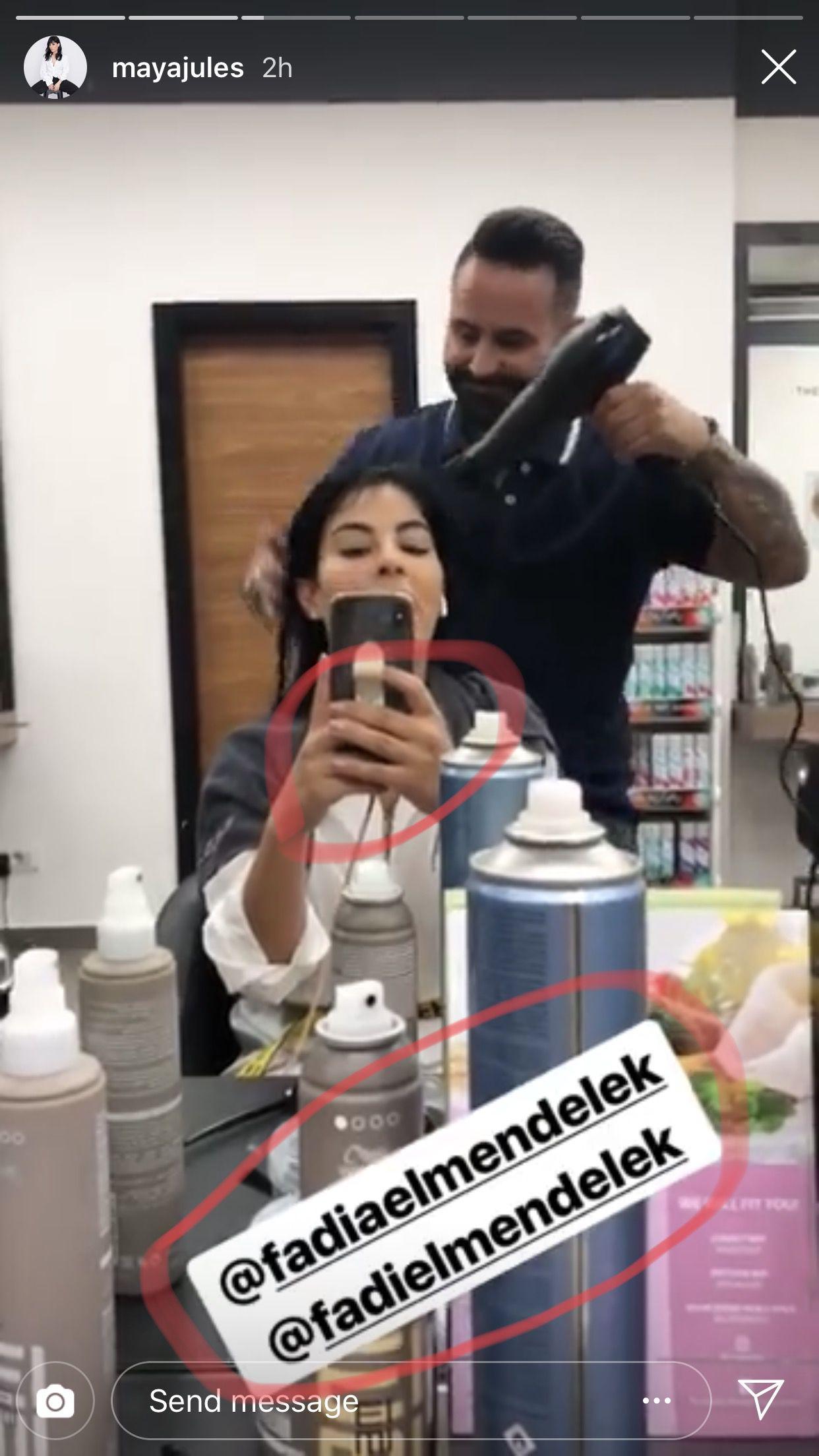 مايا حداد تنشر بعد دقائق صورة لها من صالون فاديا مندلق وراقبوا لون طلاء الأظافر