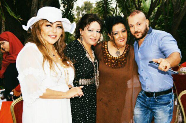 سليمان برناوي وفلة الجزائرية مع شقيقتيها في حفلها