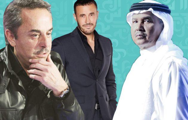 محمد عبده وملحم بركات: كاظم السهر صوت عجوز ولو أحلى - فيديو وصوت