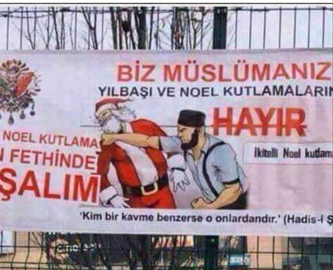 إعلانات الإسلام في تركيا ضد المسيح