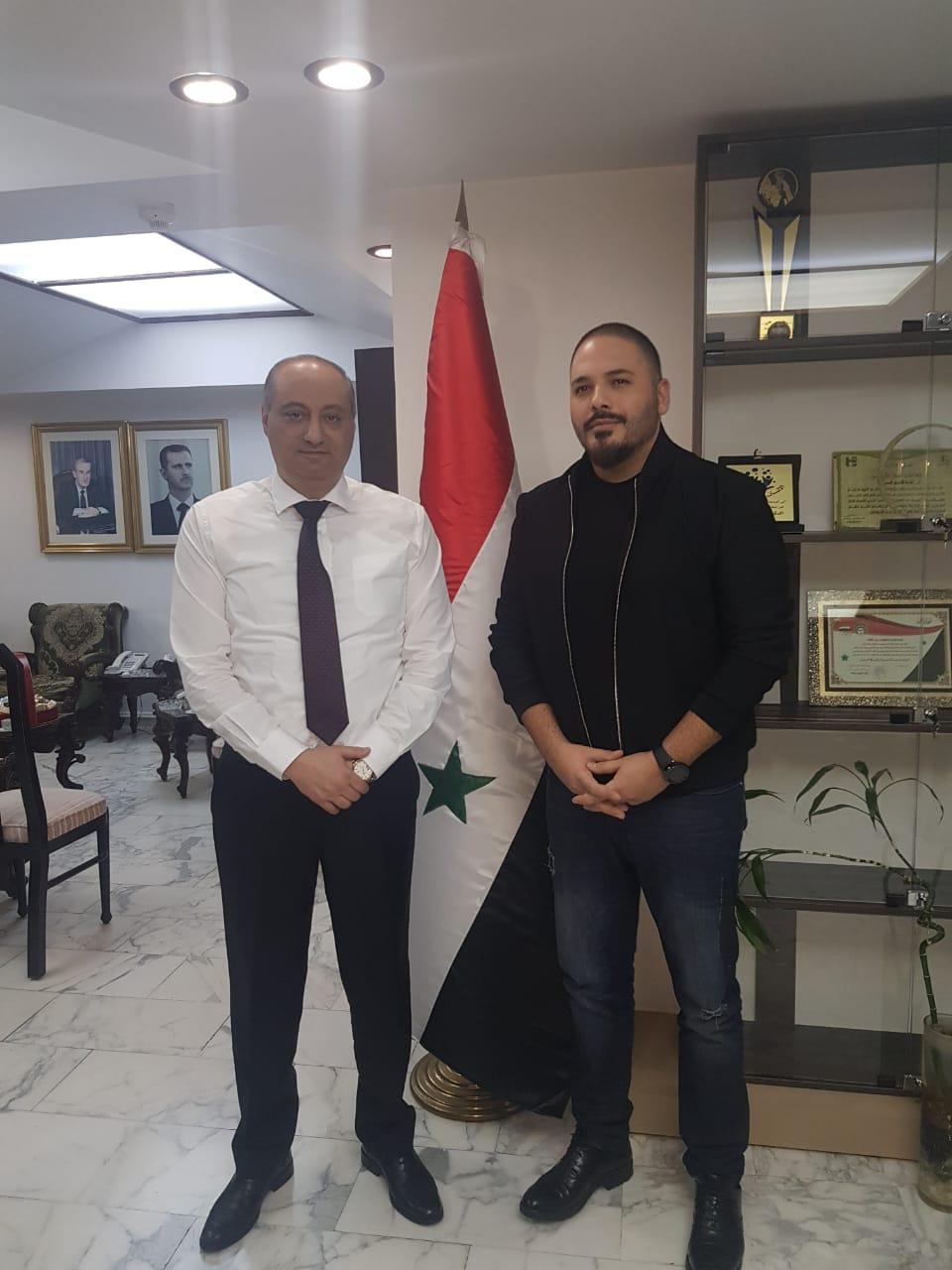 وزير الإعلام السوري عماد سارة ورامي عياش