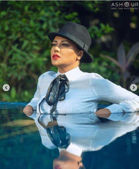 بعد الفستان المثير .. رانيا يوسف وصور في المسبح