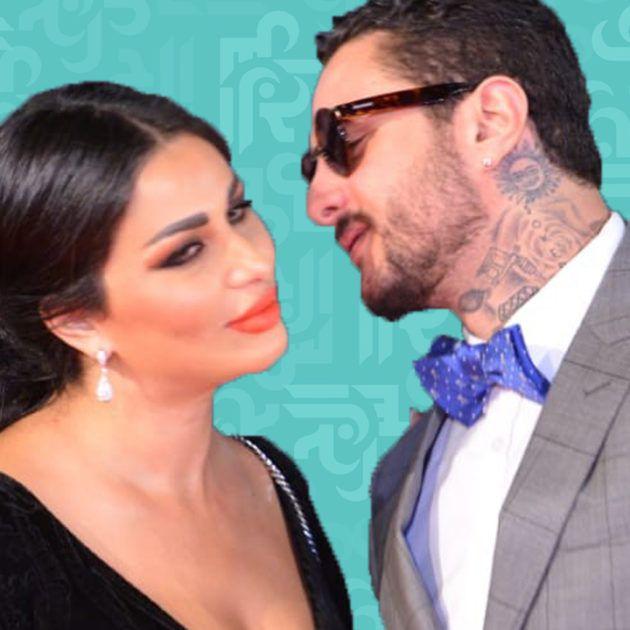 الفيشاوي يحتفل مع زوجته بالخمر - فيديو
