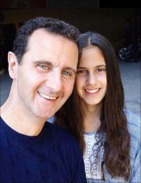 صور جديدة لبشار الأسد وأسماء الأسد تحضن ابنتها