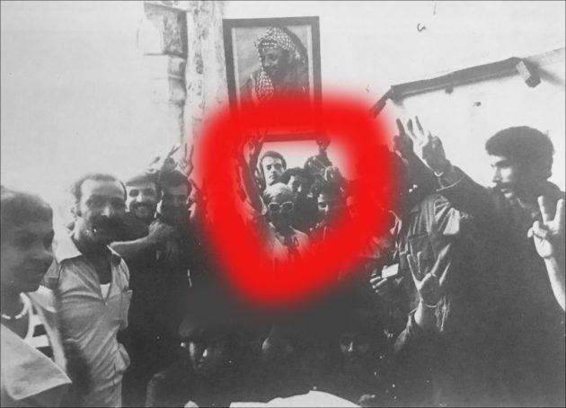 ناديا لطفي تودع ياسر عرفات في بيروت