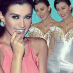 نادين الراسي بالقصير مع خطيبها - صورة