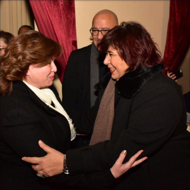 وزيرة الثقافة ترحب بالهام شاهين