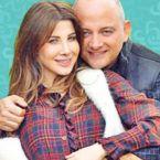 نانسي عجرم مع زوجها وابنتيهما - صورة
